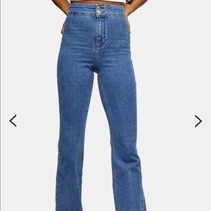 Top shop high waisted flare jeans